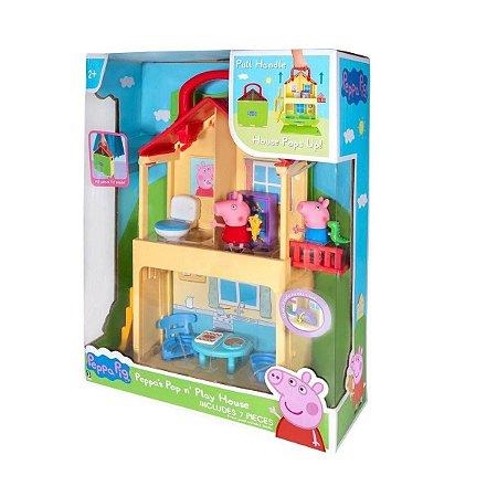 Brinquedo Sunny Casa Maletinha Peppa Pig Colorido 2313