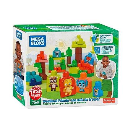 Mega Bloks Amigos da Floresta 70 Peças Fisher Price GMB63