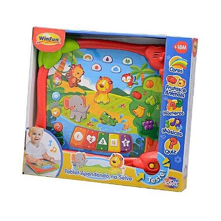 Brinquedo Infantil Tablet Aprendendo na Selva WinFun 2513