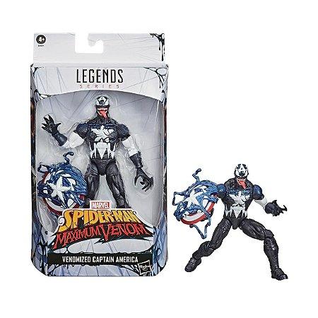 Figura Marvel Legends Series Capitão América Venom E8894