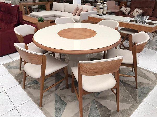 Conjunto Indigo (mesa com 6 cadeiras)