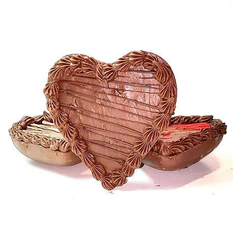 Coração trufado decorado 180g