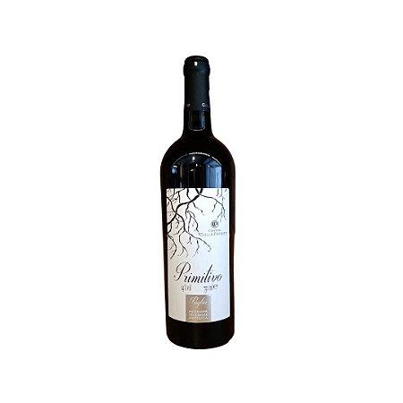 Vinho Italiano Tinto Cantine Colle Petrito Primitivo Puglia Garrafa 750ML