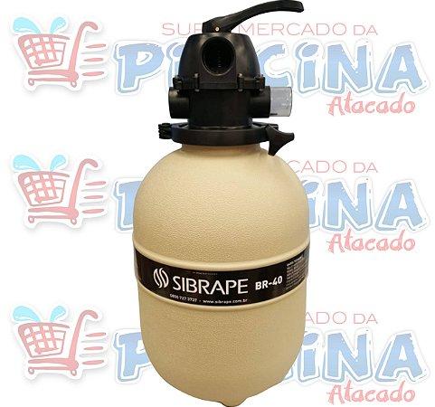 Filtro - Br-40 - Sibrape - Para Piscinas Até 44,8 m³- Quantidade de 03 a 15