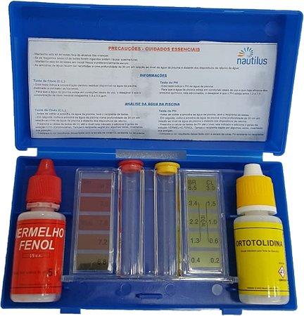 Estojo de Teste - pH e Cloro - 23 ML - Nautilus  - Quantidade de 10 a 30