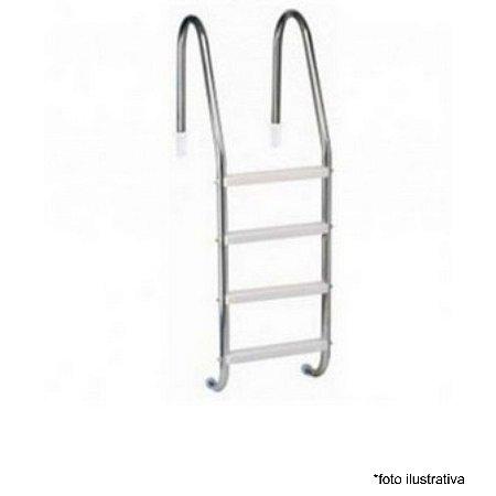 Escada para Piscina - Aço Inox 304 - 4 Degraus em ABS  - Quantidade de 3 a 8