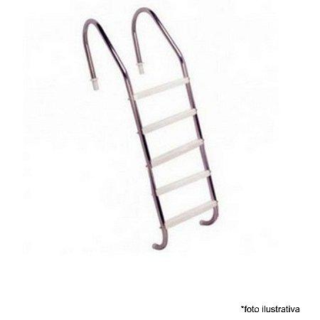 Escada para Piscina - Aço Inox 304 - 5 Degraus em ABS  - Quantidade de 3 a 8