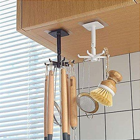Gancho de Utensílios de Cozinha Multiuso Rotativo