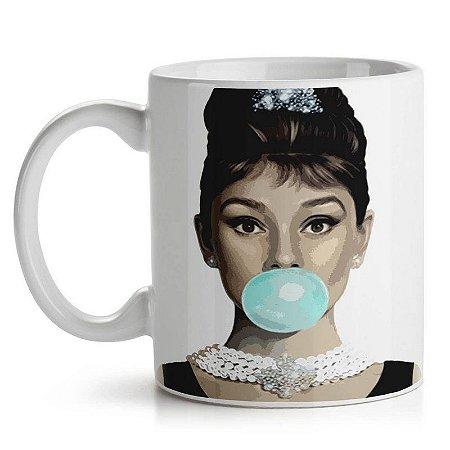 Caneca Retrô Audrey Hepburn
