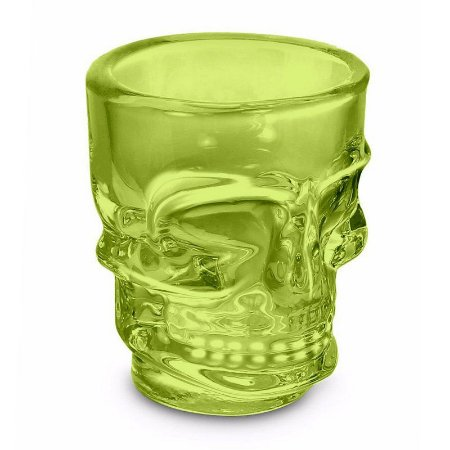 Copo Shot Caveira Skull Dose 50ml - verde limão