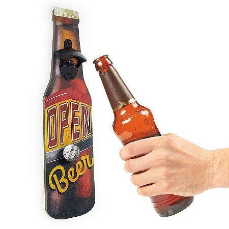 Abridor de Garrafa de Parede Open Beer