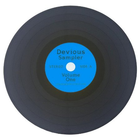 Jogo Americano Disco de Vinil Devious Sampler - azul