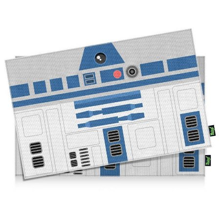 Jogo Americano Geek Side Faces R2 azul - 2 peças