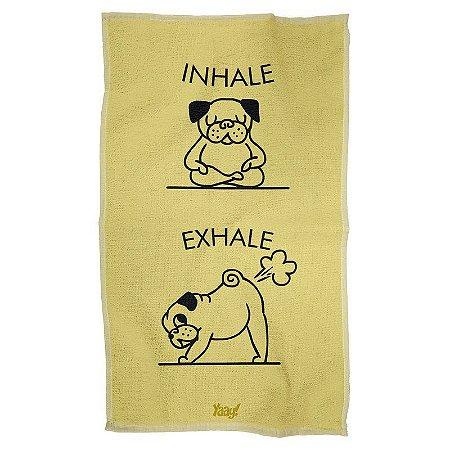 Pano Decorativo Multiuso Inhale Exhale Pug