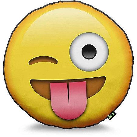 Almofada Emoticon - Emoji Mostrando a Língua
