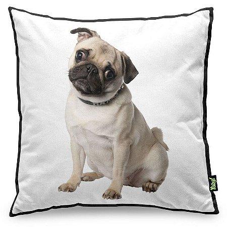 Almofada Love Dogs Black Edition - Pug