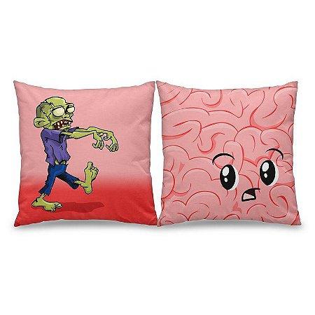 Jogo de Almofadas Zombie and Brain