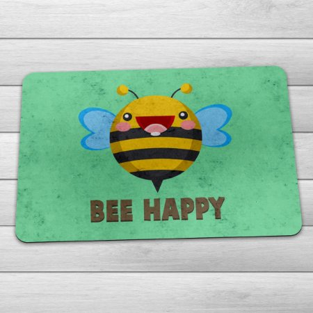 Capacho Eco Slim 3mm Abelha Bee Happy