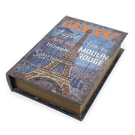 Caixa Livro Decorativa Paris - 25 x 18 cm