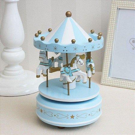 Caixa Musical Carrossel - azul