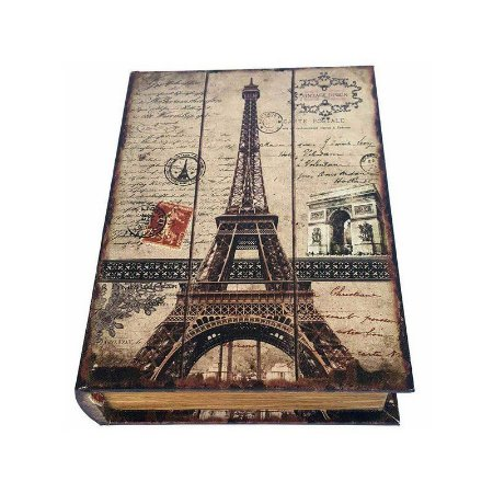 Caixinha Livro Decorativa Torre Eiffel - 18 x 13 cm