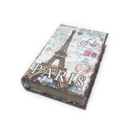 Caixinha Livro Decorativa Torre Eiffel Paris - 18 x 13 cm