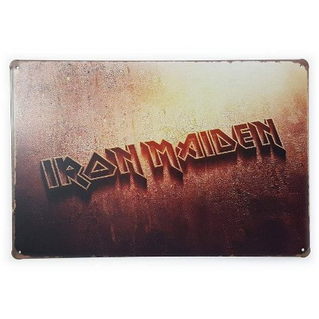 Placa de Metal Iron Maiden - 30 x 20 cm