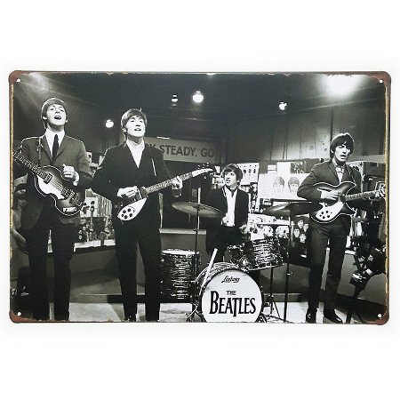 Placa de Metal Decorativa The Beatles