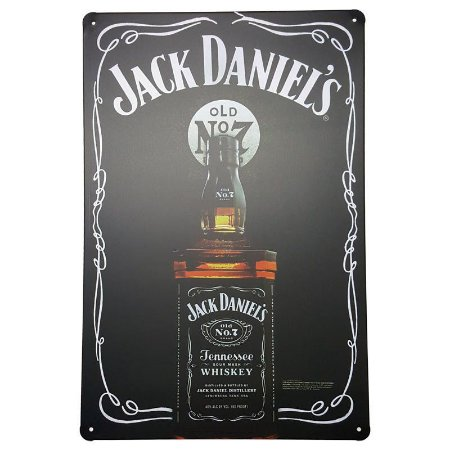 Placa de Metal Decorativa Jack Daniel's No 7