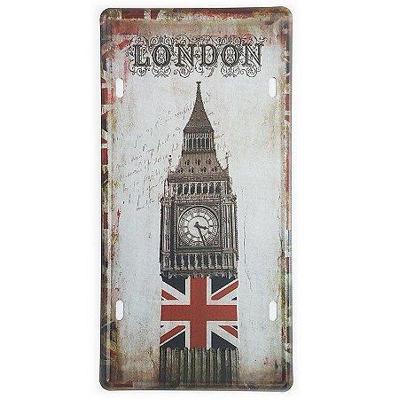Placa de Metal Decorativa London Big Ben Tower