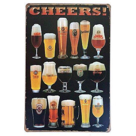 Placa de metal decorativa Retrô Cheers