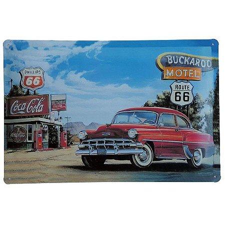 Placa de Metal Decorativa Buckaroo Motel - 30 x 20 cm