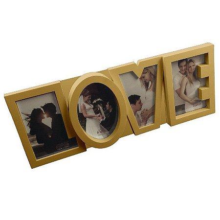 Porta Retrato 4 fotos Love