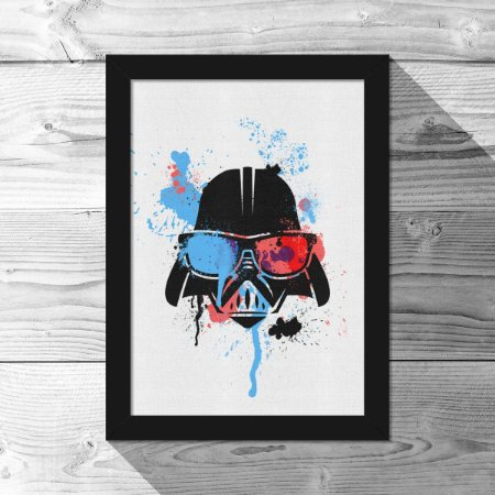 Quadro A4 Geek Side - Splash Vader - 21 x 30 cm