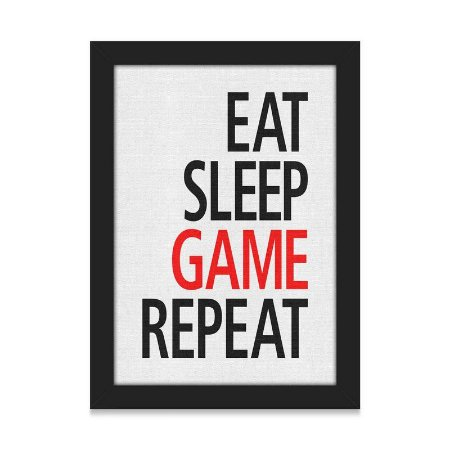 Quadro A4 Gamer Eat Sleep Game Repeat