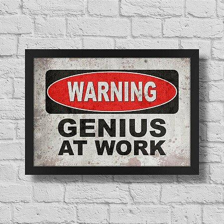 Quadro A3 Warning Genius at Work
