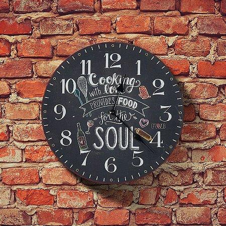 Relógio de parede Retrô Cooking with Love