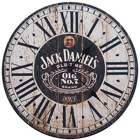Relógio de Parede Retrô Jack Daniel's Old Time
