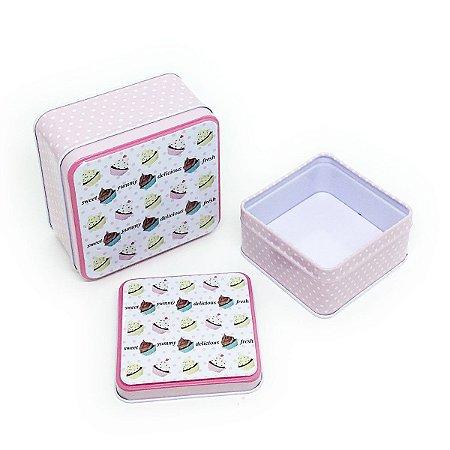 Jogo de latas Yummy Cupcakes - 2 unidades