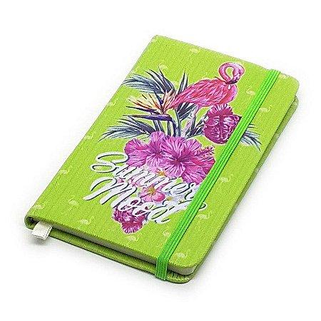 Caderneta de Anotação Flamingo Summer - verde