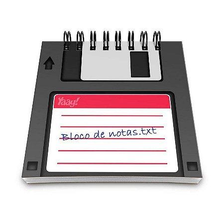 Bloco de Anotações Disquete Floppy Disk