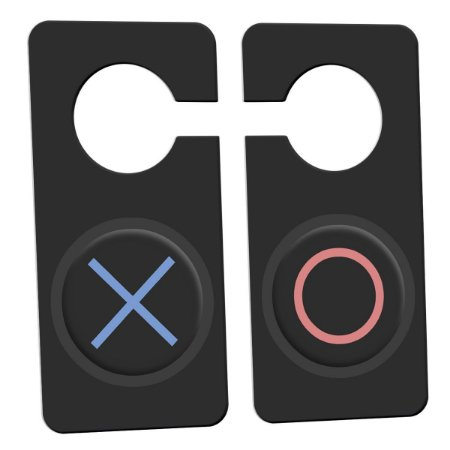 Aviso de Porta Gamer Botôes X e Bola