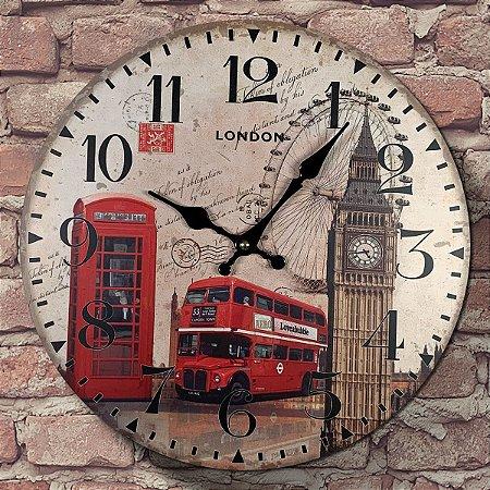 Relógio de Parede London Bus