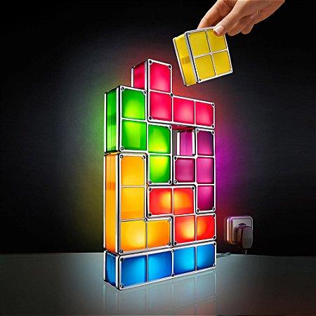 Luminária Tetris Bloco LEDs montáveis