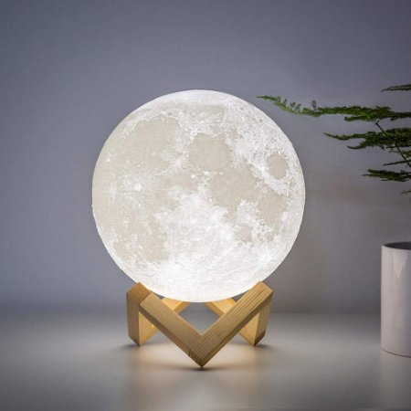 Luminária sem fio Lua com controle remoto e Led 16 cores