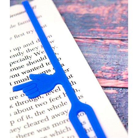 Marcador de Páginas com indicador de parágrafo - azul