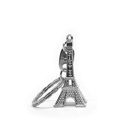 Chaveiro em Metal Torre Eiffel - prata