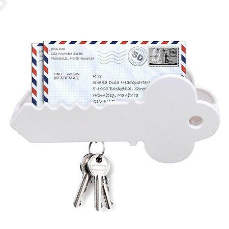 Porta Chaves e Cartas Magnético - Chave - branco