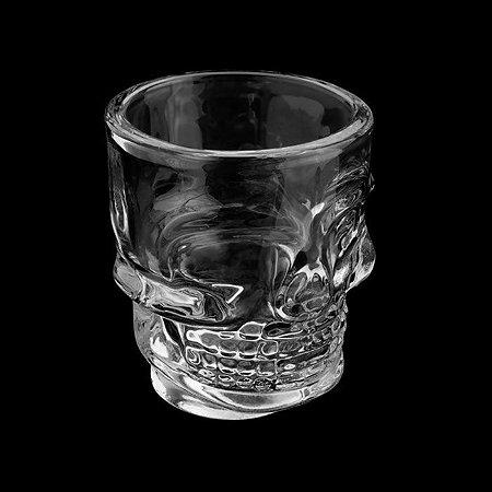 Copo de whisky Caveira Rock Style 265ml em vidro