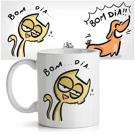 Caneca USQ Cães e Gatos Bom Dia